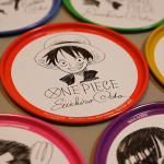 One Piece tin coasters