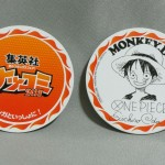 One Piece cardboard coasters front back