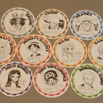 One Piece cardboard coasters full set