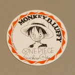 One Piece cardboard coasters luffy