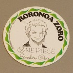 One Piece cardboard coasters Zoro