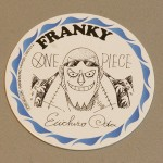 One Piece cardboard coasters Franky