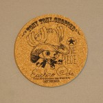 One Piece cork coasters Chopper