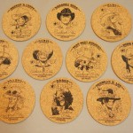 One Piece cork coasters full set