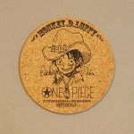 One Piece cork coasters Luffy