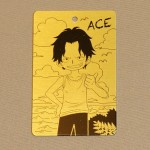 One Piece Metal Portrait Young Ace