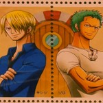 One Piece Stamps Sanji Zoro