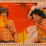 One Piece Stamps Ace Luffy