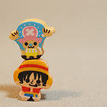 One Piece mini erasers - Luffy and Chopper mini erasers