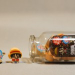 One Piece mini erasers jar - Chopper and Luffy