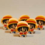 One Piece mini erasers - Mini Luffys