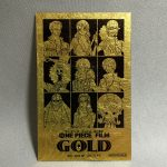 Straw Hat Gold Leafed Card - Front of card